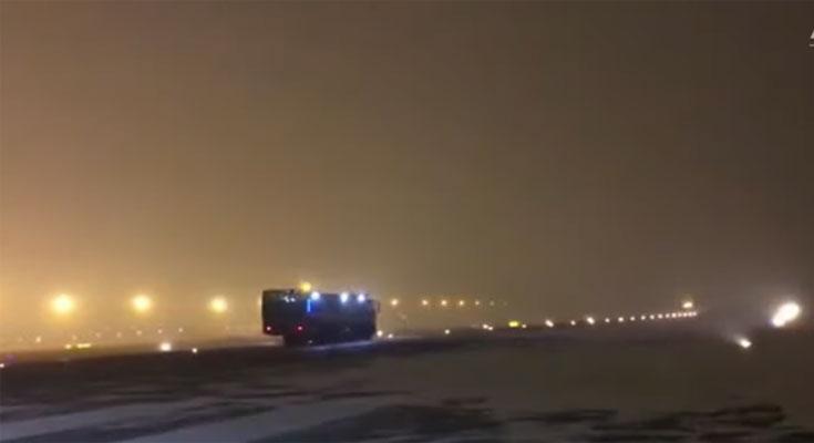 چین: بیجنگ میں نئے سال کی پہلی برفباری