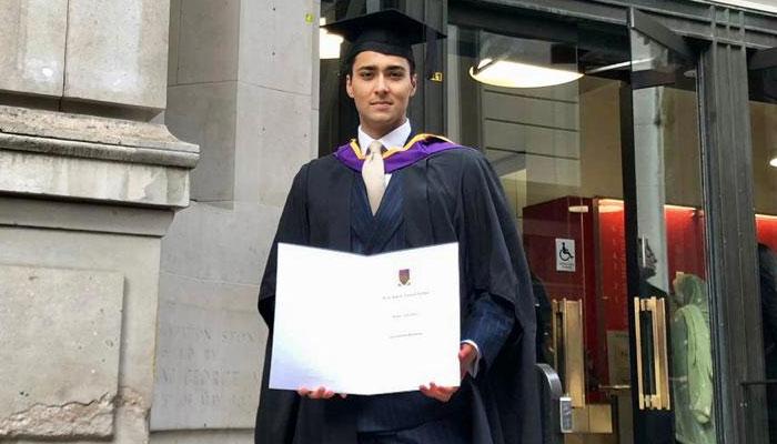 جنید صفدر کا گریجویشن مکمل، والدین کی تقریب میں عدم شرکت