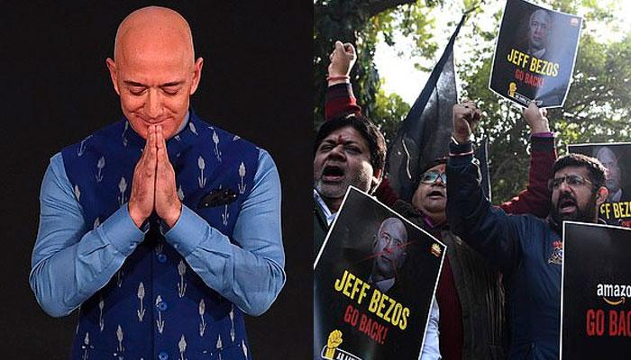 ایمازون کے بانی کی نظریں بھارت پر، مقامی تاجروں کا احتجاج