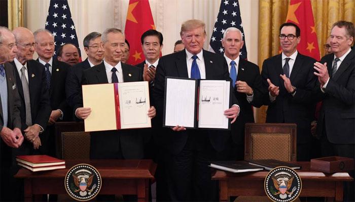امریکا چین تجارتی جنگ کا خاتمہ، ڈیل کا پہلا مرحلہ طے