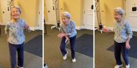 Energetic 91 Year Old American Lady Busts A Dance Moves