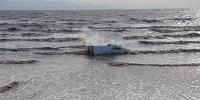 Karachi Speedy Car Fallen Into Sea