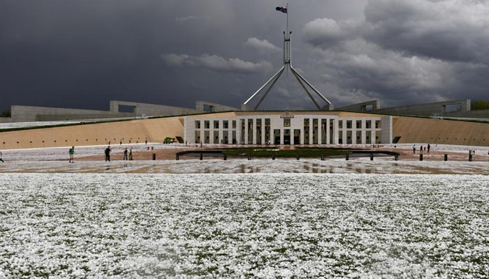 آسٹریلیا میں بارشوں کے بعد اولے پڑے