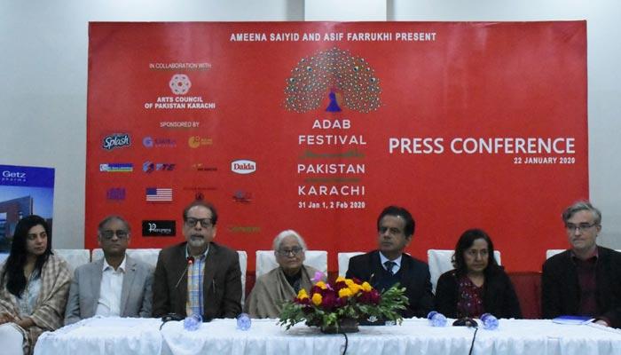 ادب فیسٹیول 31 جنوری سے کراچی آرٹس کونسل میں ہوگا