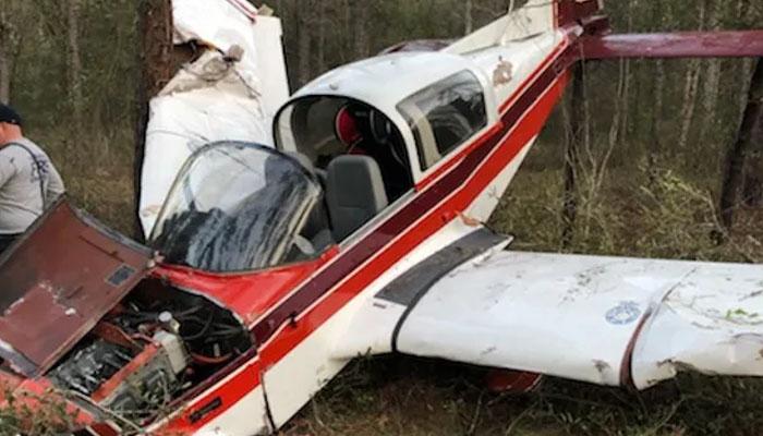 امریکا: طیارہ جنگلاتی علاقے میں درختوں سے ٹکرا کر تباہ