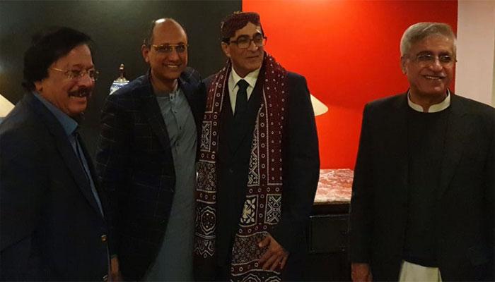 پیپلز پارٹی کی جانب سے عمرمیمن اورعدنان شفیق کےاعزاز میں استقبالیہ