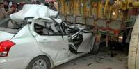 Faisalabad Motorway Mishap Car Trailer Collision 3 Dead 2 Injured
