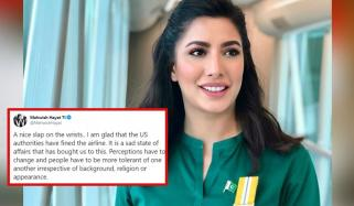 Mehwish Hayat Lauds Us Action Against Delta Airline For Kicking Off Muslim Passengers