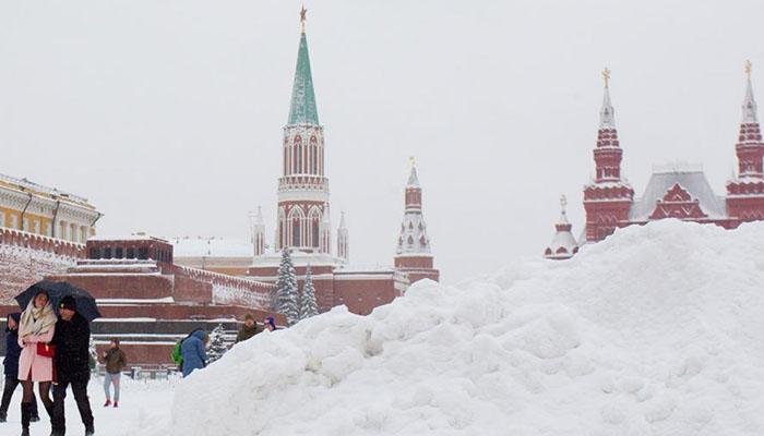 روس میں برفباری کا طوفان