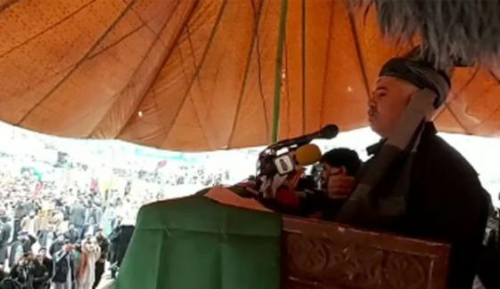 Cm Kp Addresses To Rally In Barra Bazar Khyber