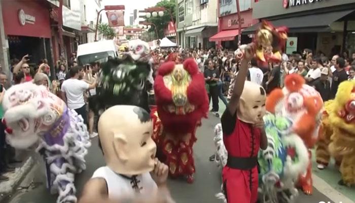 چینی قمری سال کا جشن، برازیل میں رنگا رنگ پریڈ کا انعقاد