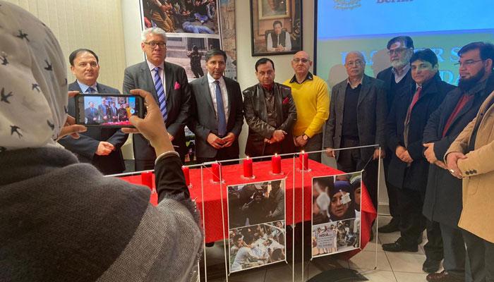برلن : پاکستانی سفارتخانے میںیوم یکجہتی کشمیر کی تقریب