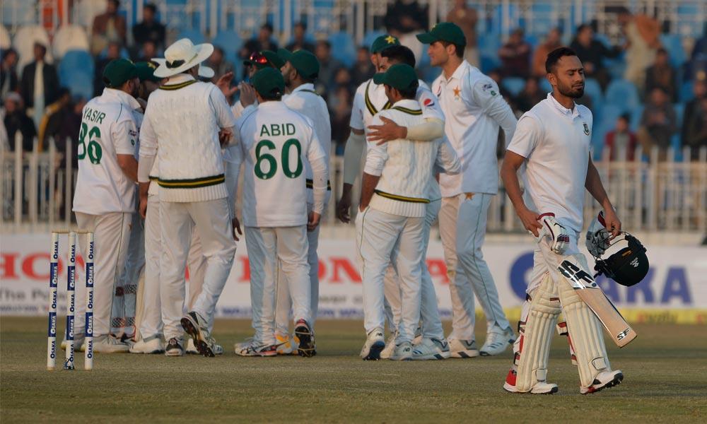 پنڈی ٹیسٹ: بنگلادیشی ٹیم 233 رنز بناکر آؤٹ