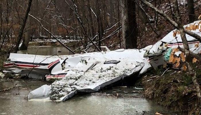 جارجیا : چھوٹا طیارہ گر کر تباہ، 4 افراد ہلاک