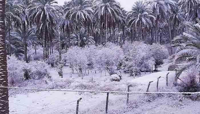 بغداد ، کئی سالوں بعد سرد موسم کی پہلی برف باری
