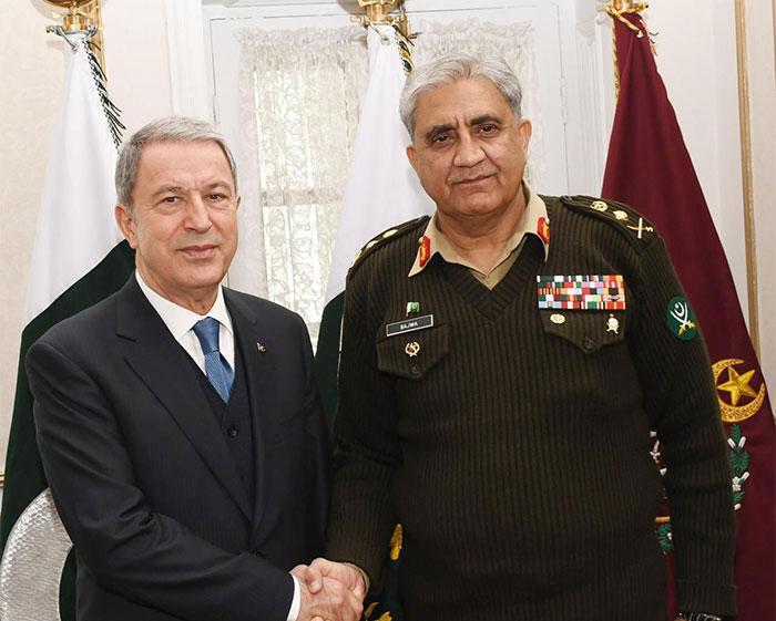 آرمی چیف سے ترک وزیر دفاع کی ملاقات