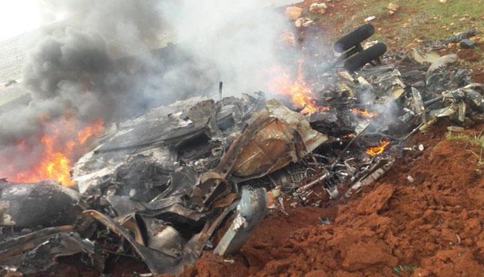 شام میں فوجی ہیلی کاپٹر گرکر تباہ، دو افراد ہلاک