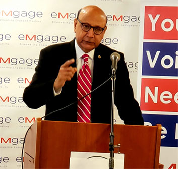 مقامی تنظیم کی جانب سے تقریب کا انعقاد، پاکستانی نژاد امریکن خضر خان کی شرکت