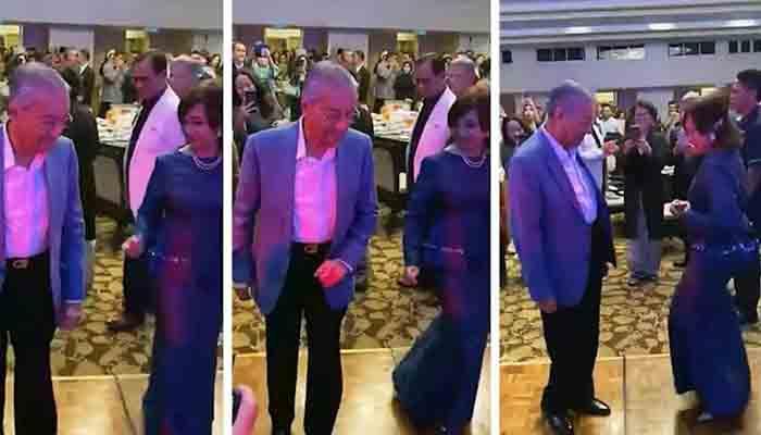 ملائشیا کے وزیراعظم مہاتیر محمد کا بیٹی کے ساتھ رقص