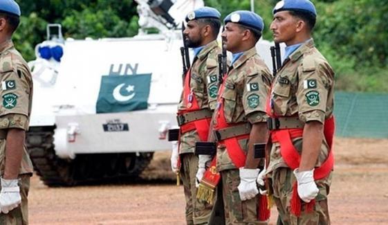 پاکستان امن مشنز میں فوج بھیجنے والا چھٹا بڑا ملک ہے