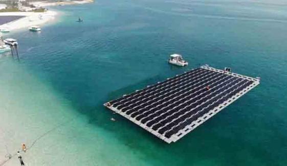ابوظبی میں تیرتے ہوئے شمسی پاور پلانٹ کا افتتاح