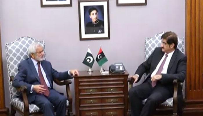 احسان مانی کی وزیراعلیٰ سندھ مراد علی شاہ سے ملاقات