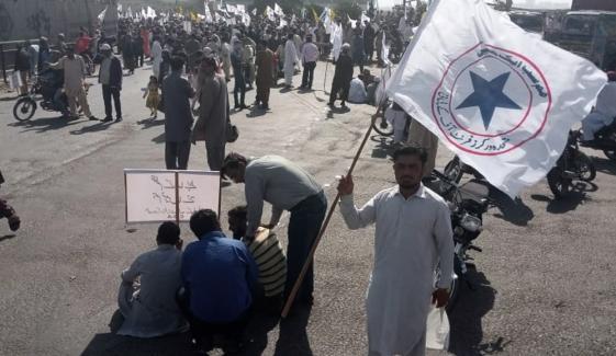کراچی، جہاز کی منتقلی پر مزدور یونین کا احتجاج