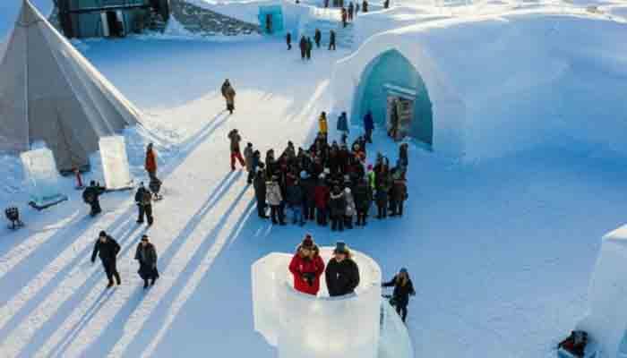 برف سے بنا ہوٹل عوام کیلئے کھول دیا گیا