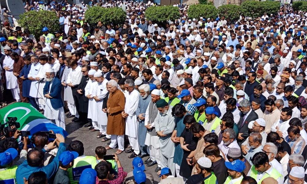 نعمت اللہ کی نماز جنازہ میں گورنر وزیر اعلیٰ کی شرکت