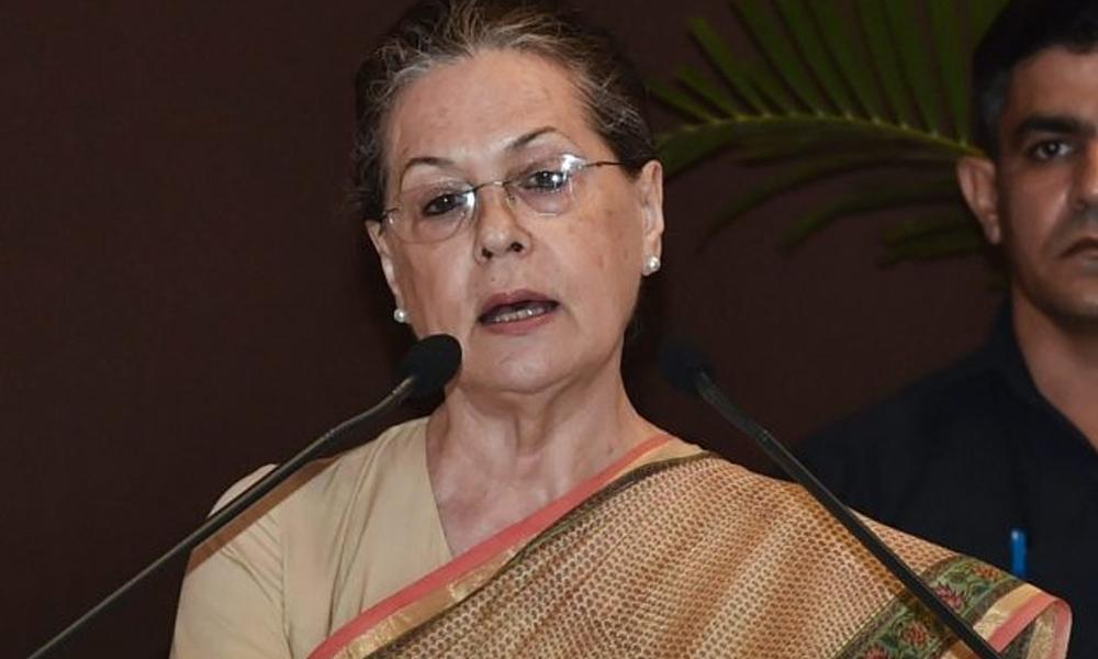 سونیا گاندھی کا امیت شاہ کے استعفیٰ کا مطالبہ