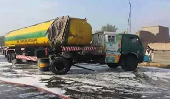 نیشنل ہائی وے سے حادثے کا شکار ٹینکر ہٹا دیا گیا، ٹریفک بحال