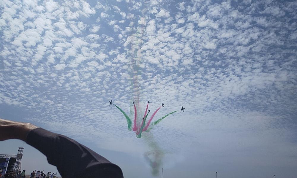 'سرپرائز ڈے' پر پاکستان فضائیہ کا زبردست ایئر شو
