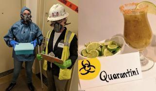 امریکا میں کورونا وائرس کی تھیم پر پارٹی