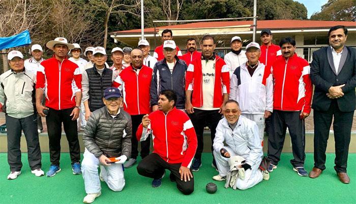 دبئی کی لان بالز ٹیم دورہ جاپان کے بعد وطن روانہ