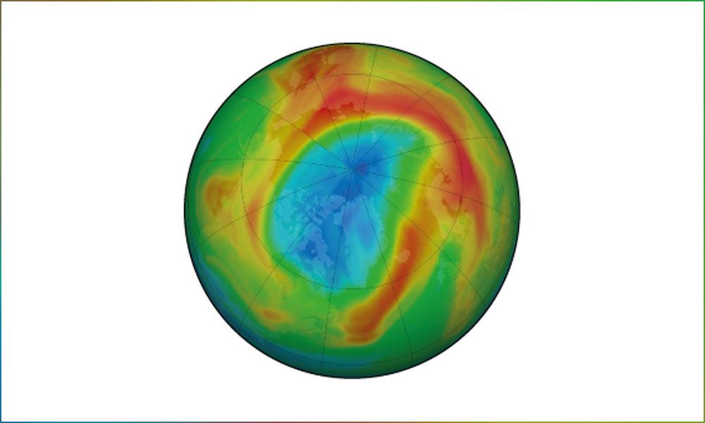 زمین کے گرد اوزون کی تہہ میں بہتری
