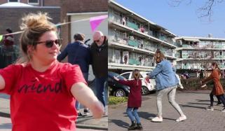 نیدرلینڈ، قرنطینہ اختیار کیے باشندوں کیلئے کورونا ڈانس