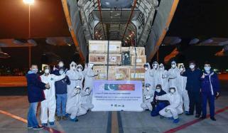 پاک فضائیہ کا طیارہ چین سے امدادی سامان لے آیا