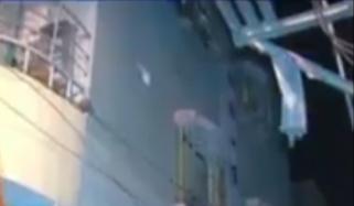 کراچی: گلبہار میں 5 منزلہ رہائشی عمارت جھک گئی