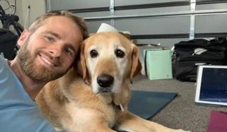 کیوی کپتان ولیمسن اپنے کتے کو کرکٹ سکھانے لگے