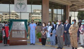 ایکسپو سینٹر کراچی میں 1200 بستروں پر مشتمل فیلڈ آئسو لیشن سینٹر کا افتتاح