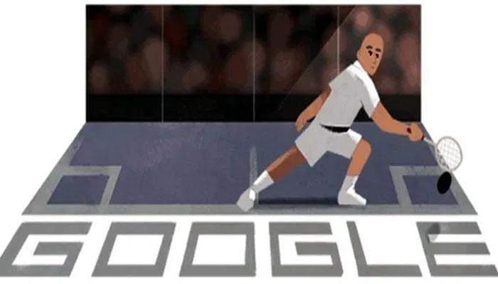 گوگل کا پاکستانی اسکواش لیجنڈ ہاشم خان کو خراج تحسین۔