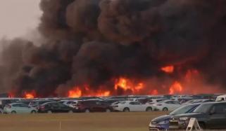 فلوریڈا   ایئرپورٹ کے قریب آتشزدگی