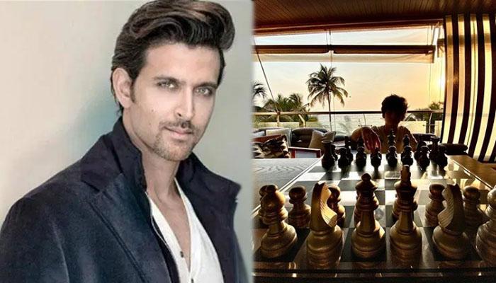 ریتھیک روشن نے بیٹے کو شطرنج کے اصول بتادیے