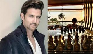 ریتھیک روشن نے بیٹے کو شطرنج کے اصول سمجھا دیئے