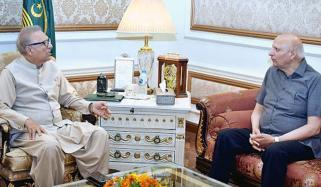 گورنر پنجاب کی صدرمملکت سے ملاقات