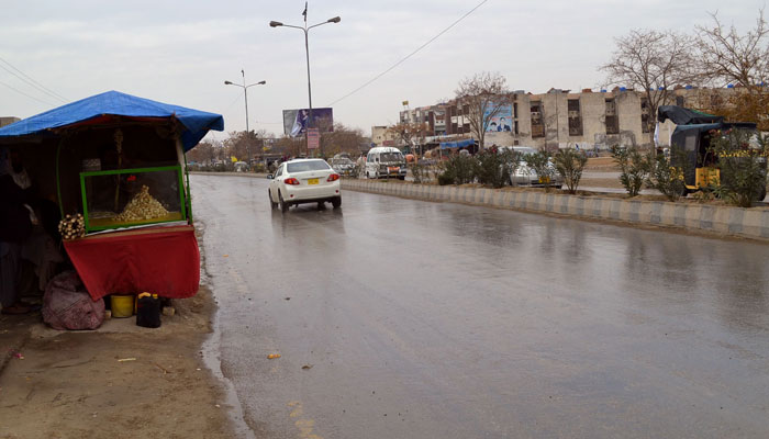 کوئٹہ میں بارش کا سلسلہ وقفے وقفے سے جاری