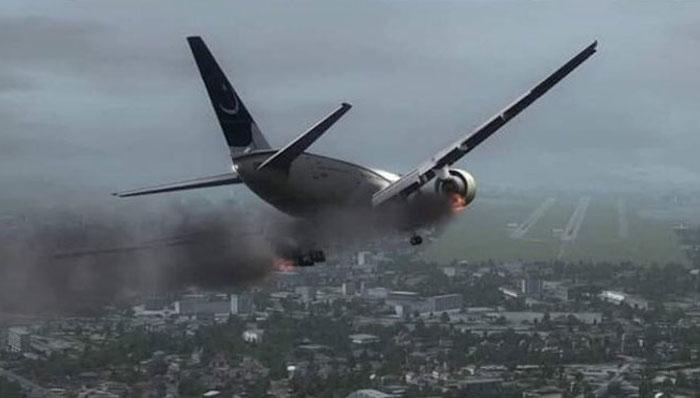 تباہی سے 19 منٹ قبل پائلٹ نے ہنگامی لینڈنگ کی ناکام کوشش کی