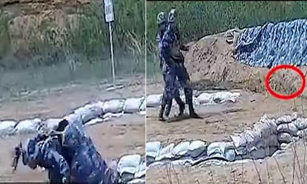 چینی بحریہ کے انسٹرکٹر نے زیرتربیت اہلکار کی جان بچالی