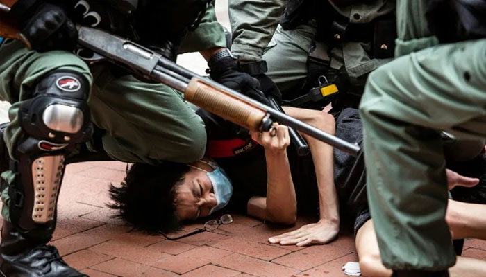 چین کے پیش کردہ بل کیخلاف ہانگ کانگ میں مظاہرے