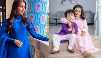 عائزہ خان نے عید اپنے بچوں کے نام کردی